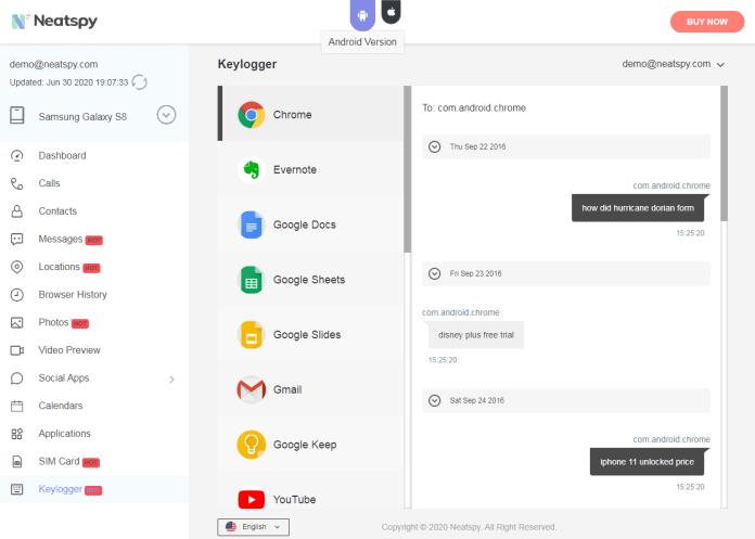 neatspy key features