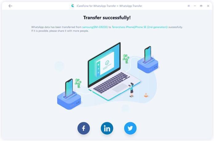 Whatsapp data transfer process