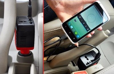 car DC to AC power inverter with USB charging port