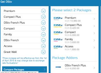 DSTV Nigeria plans