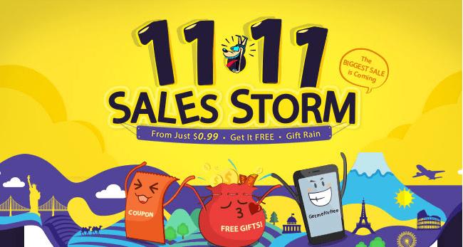 GearBest 11.11 Global shopping festival discounts