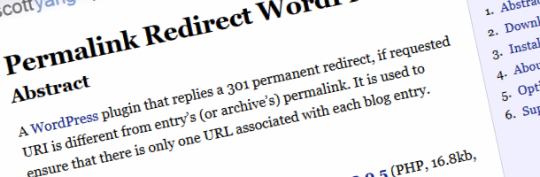 wordpress redirection plugin; permalink redirect