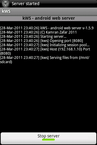 kWS - Android Web Server