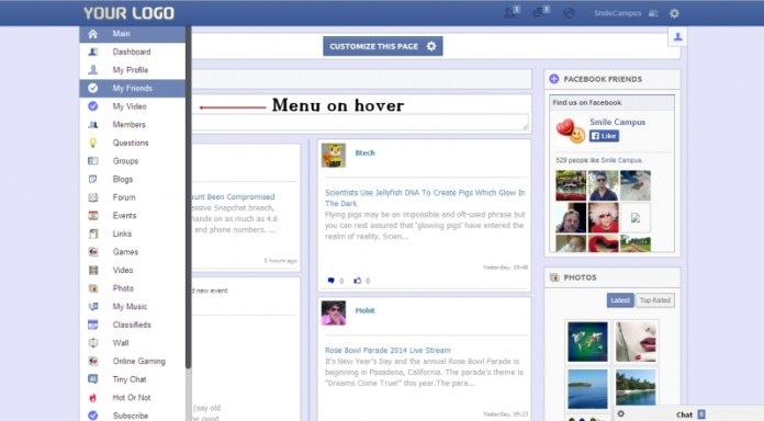 facebook timestyle theme for oxwall