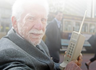 the first first cell phone call