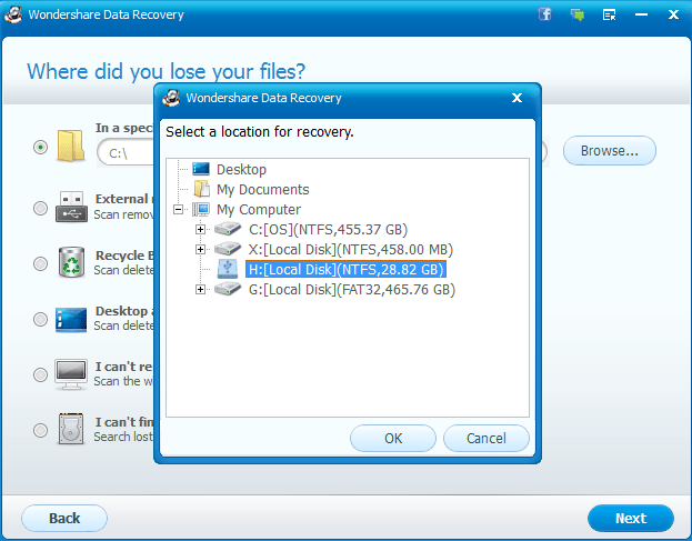 how to recover lost files with wondershare data recovery software