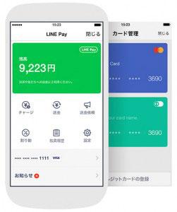 LINE Pay、決済、送金、送金依頼、割り勘まで