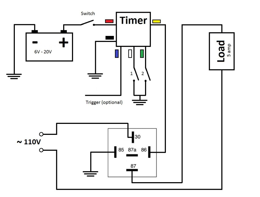 medium resolution of multi functional 3v time delay relay timer