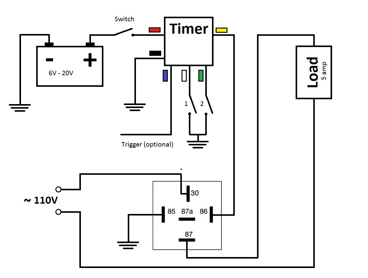 time delay relay circuit diagram volvo 850 radio wiring multifunctional timer off at 3rd brake