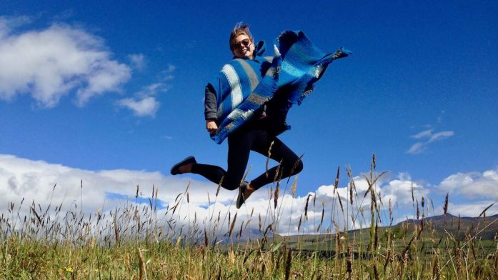 Jumping picture at Cotopaxi