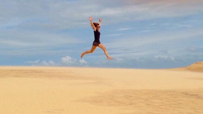 Jumping Picture in Lençois Maranhe