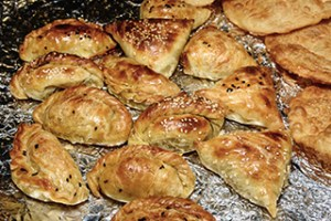 Uzbek lamb and cheese samosas loaded with umami. Photo by NataliaVo iStock