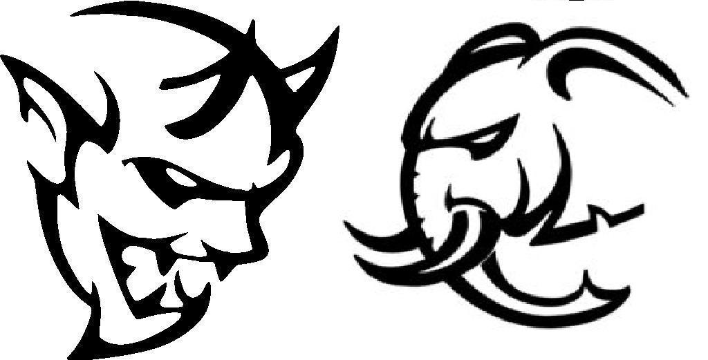 Demon-Hellcat-Hellephant Fuel Filler Door Decal Dodge