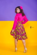 The Wildflower Roxy Skirt 3reec's Purple Pink Yellow Brown Floral Abstract Ankara African Print Dashiki Retro Chic Fashion Spring Summer 2017 Freedom Collection SS17
