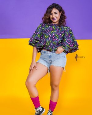 The Tootsie Butterfly Top 3reec's Purple Blue Green Pink Floral Ankara African Print Dashiki Retro Chic Fashion Spring Summer 2017 Freedom Collection SS17