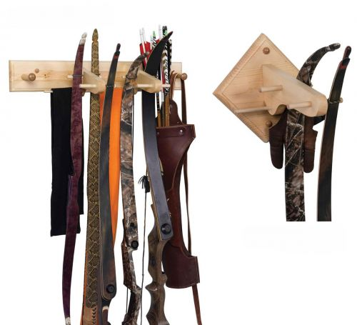 traditional wood bow rack