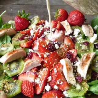 strawberry salad with honey poppyseed dressing