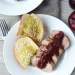 Simple Savory Pork Tenderloin with Plum Sauce