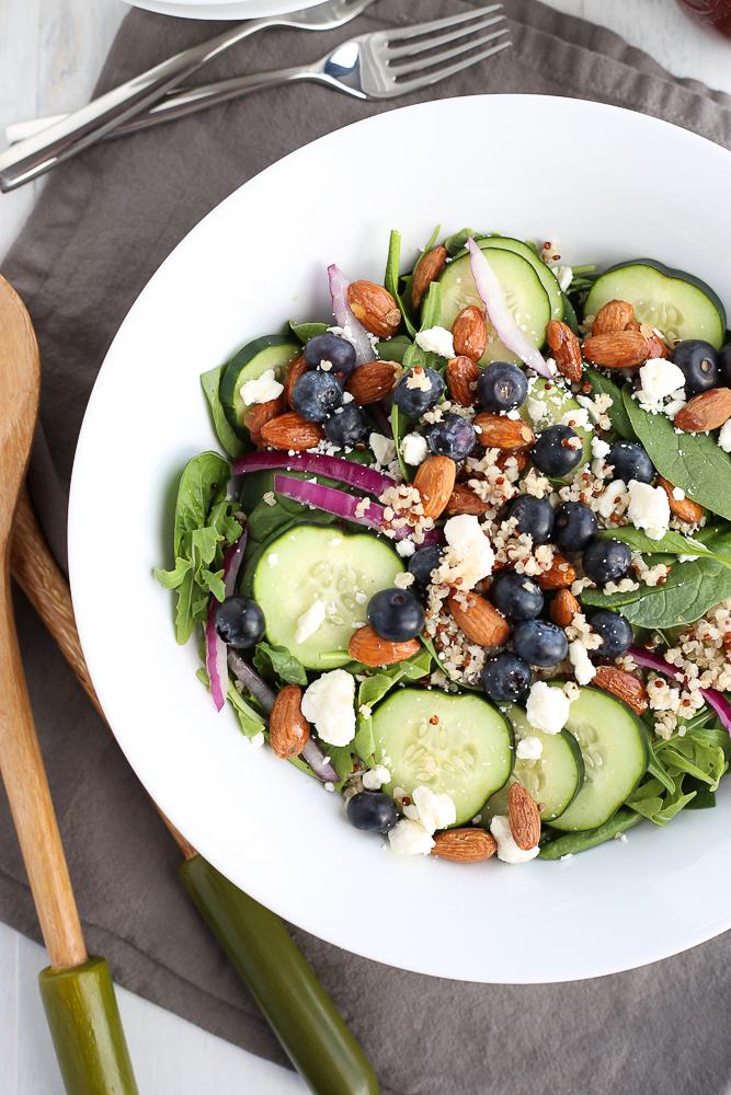 best blueberry spinach salad