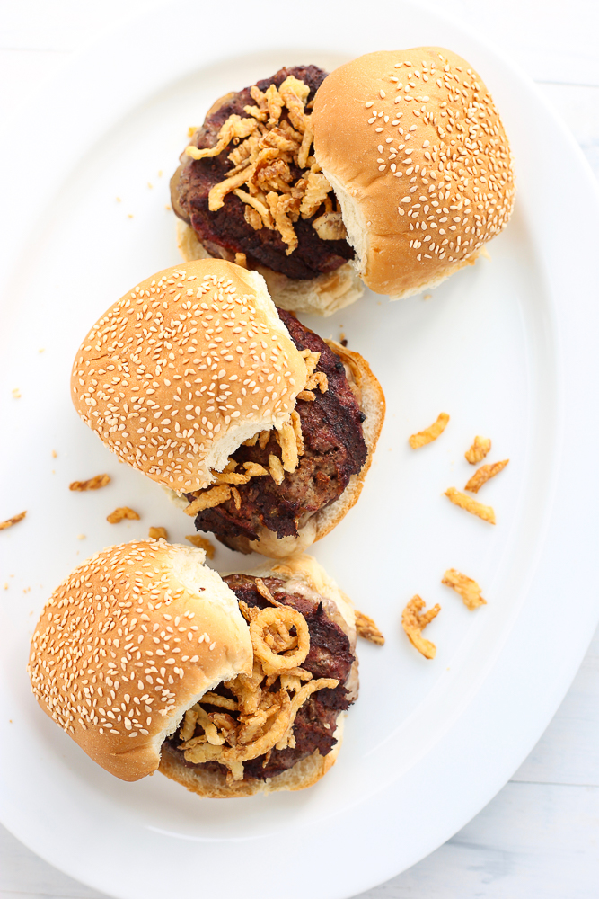 Swiss Mushroom Inside Out Burgers