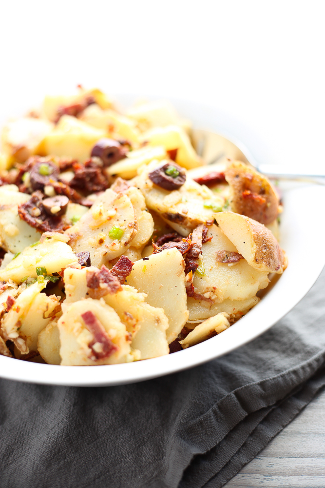 red potato salad with sun-dried tomatoes