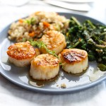 Celebration Lemon Thyme and Brown Butter Scallops