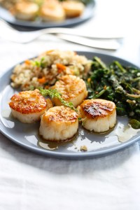 lemon thyme and brown butter scallops