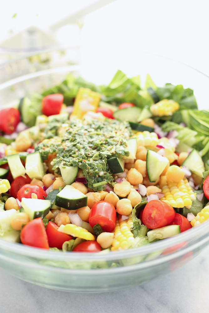 farmer's market veggie and chickpea salad