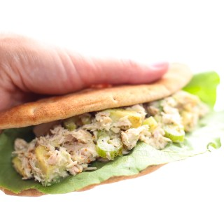 my favorite tuna salad and avocado pita pockets