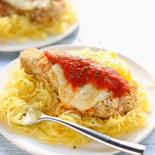 healthy chicken parmesan with spaghetti squash