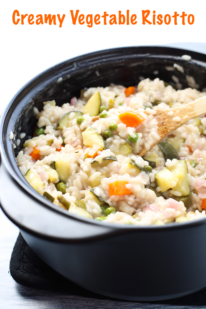 creamy vegetable risotto with rosemary