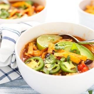 healthy chicken enchilada pot