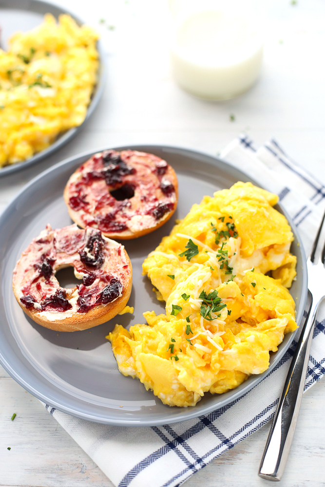 holiday morning scrambled eggs