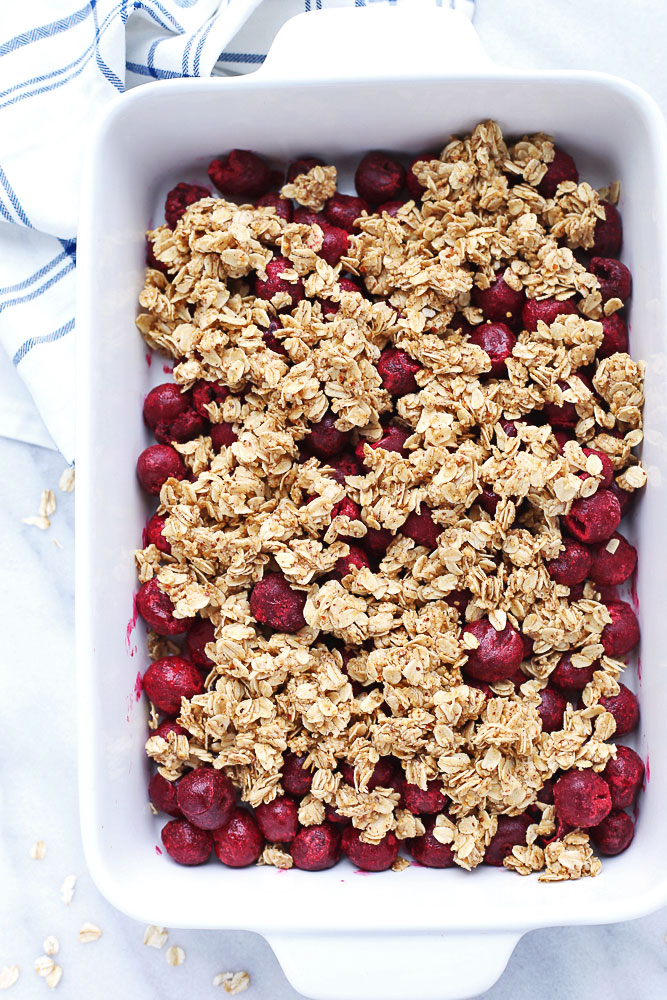 Cherry and Oat Breakfast Crumble