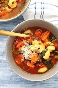 Instant Pot Veggie Soup with Tortellini