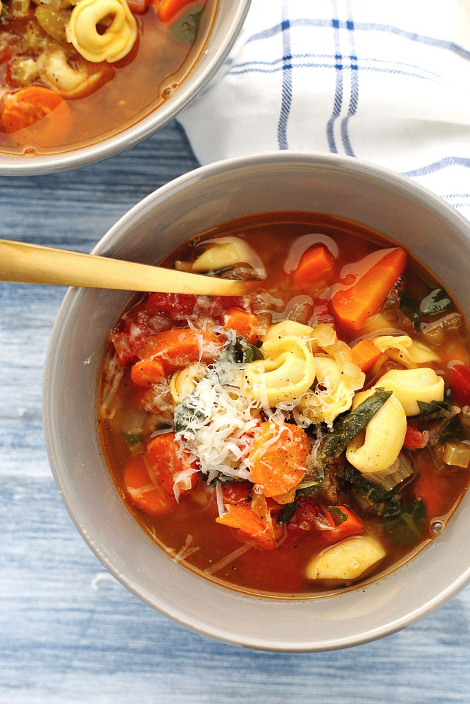 Instant Pot Veggie Soup with Tortellini