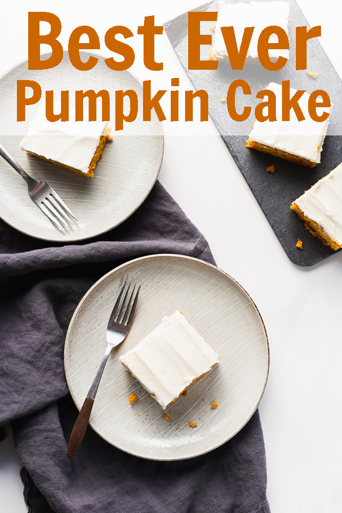 Best Ever Pumpkin Cake with Cream Cheese Frosting