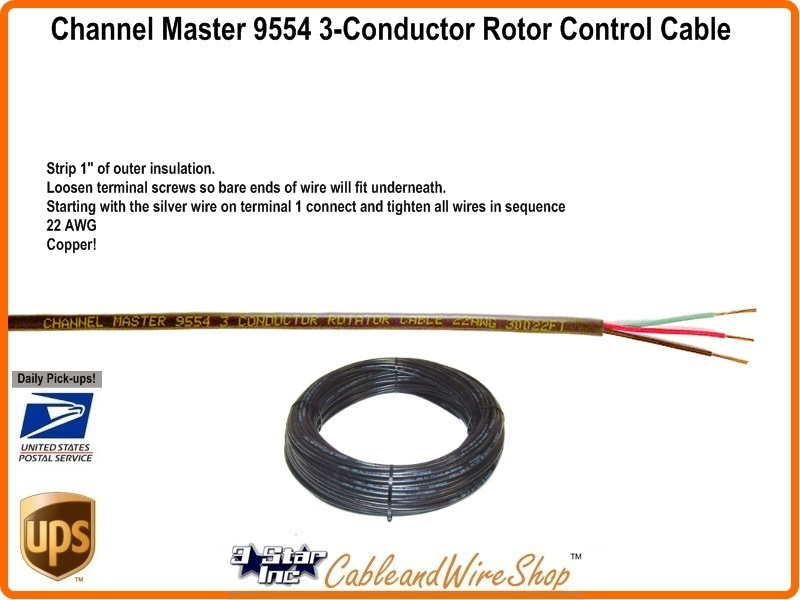 Channel Master 9554 Antenna Rotator Control Wire Cable