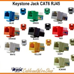 Cat6 Jack Wiring Diagram Division Land Section /rj45 Keystone Voice Data Black U | 3 Star Incorporated