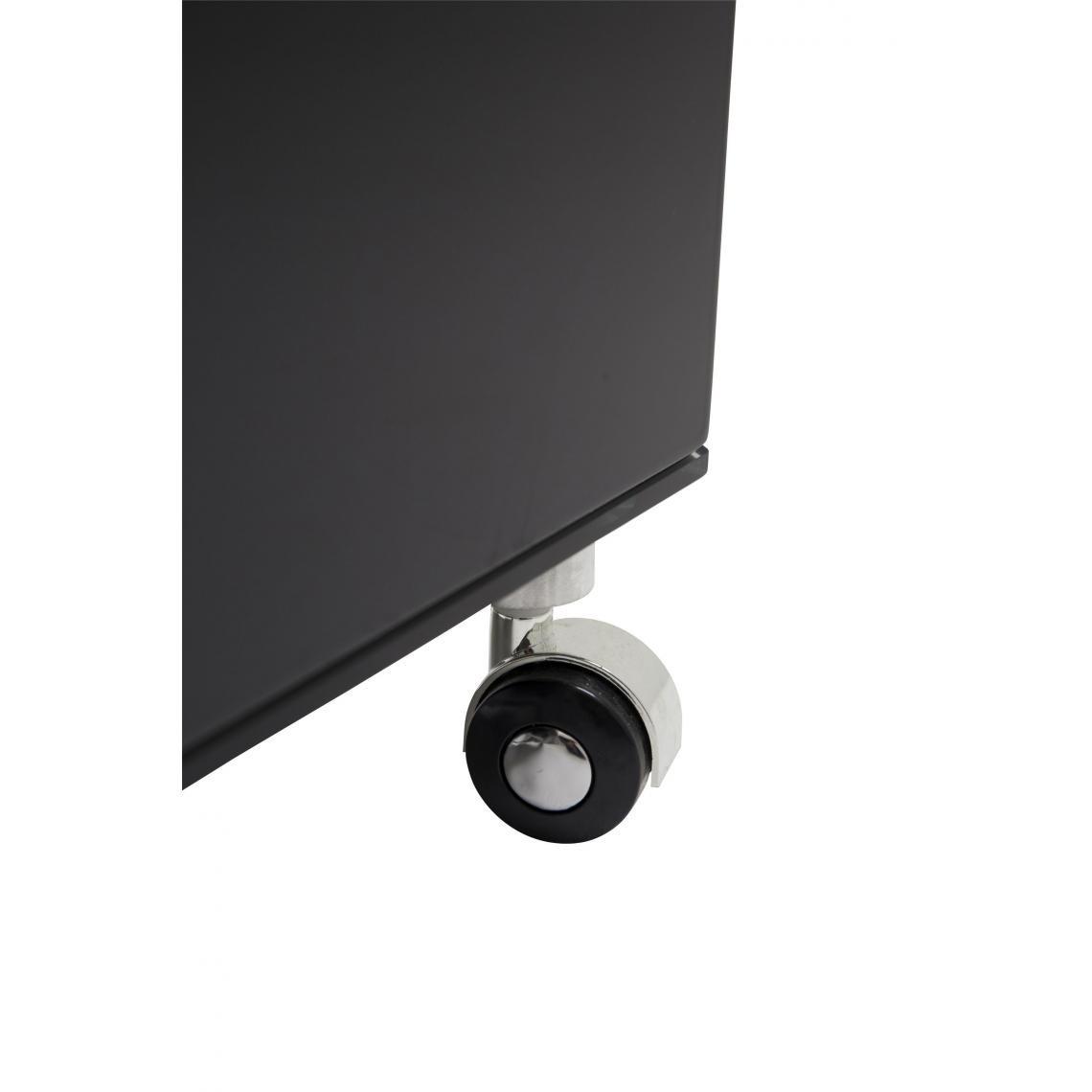 meuble tv a roulettes 90x42cm verre