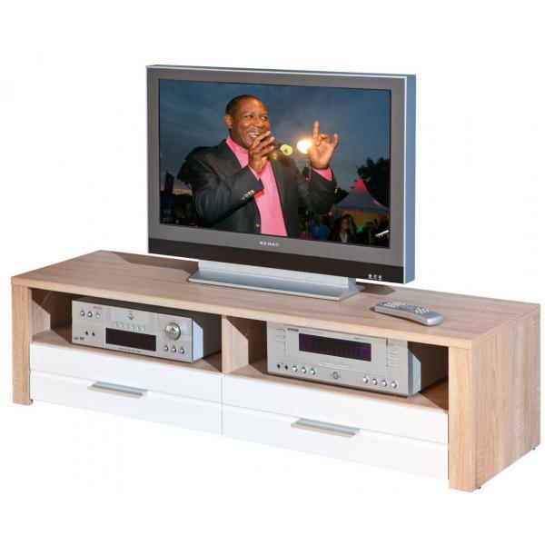 meuble tv en chene 150 x 40 cm absoluto