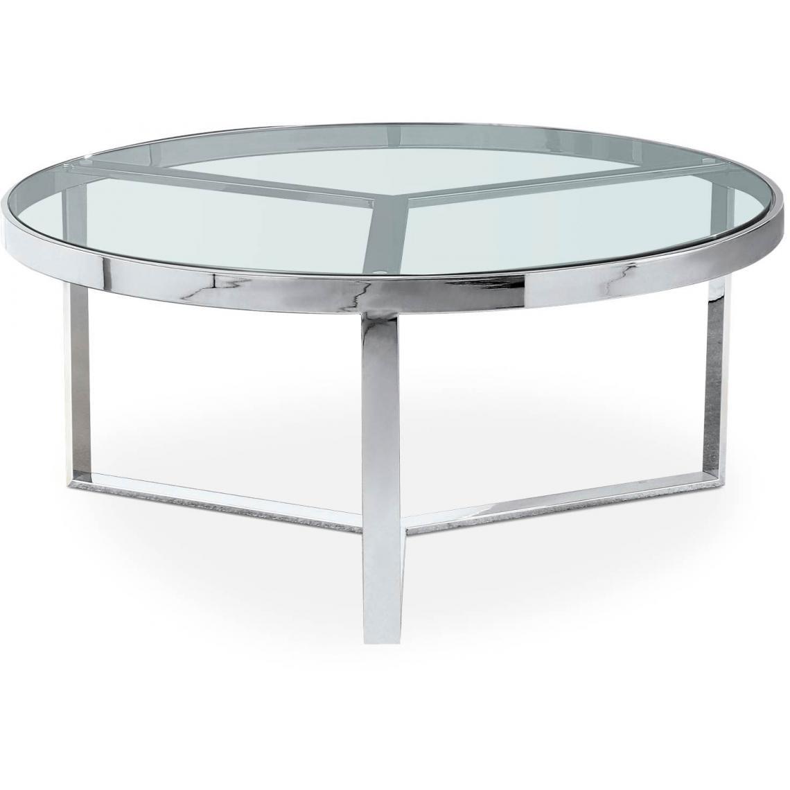table basse en verre et metal primi