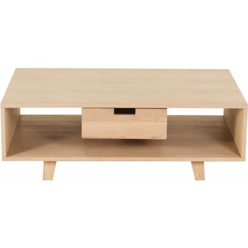 3s x home table basse scandinave avec 1 tiroir pietement en chene sergio