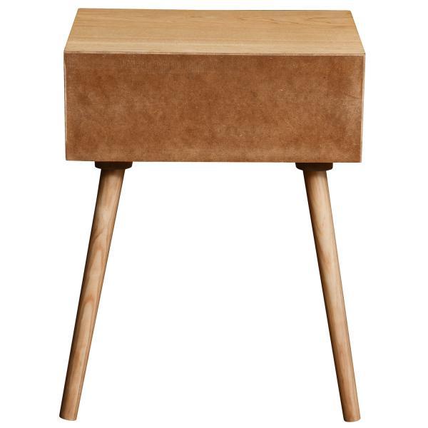 table de chevet noire et bois clair 1 tiroir fleury