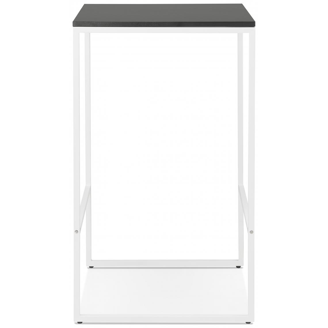 table de bar carree pietement en metal blanc chick