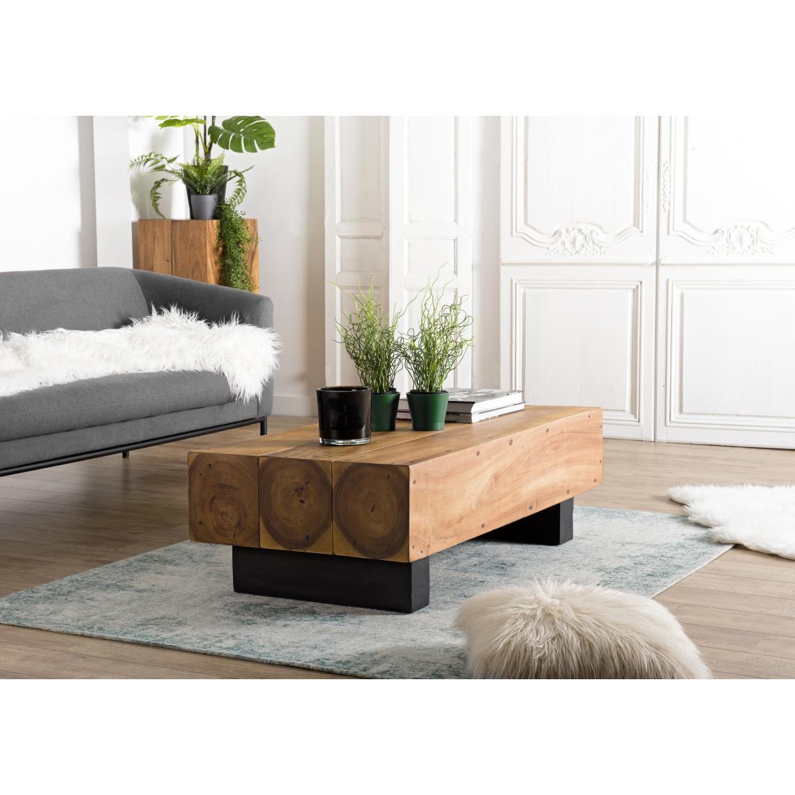 table basse poutres 120x60cm bois suar