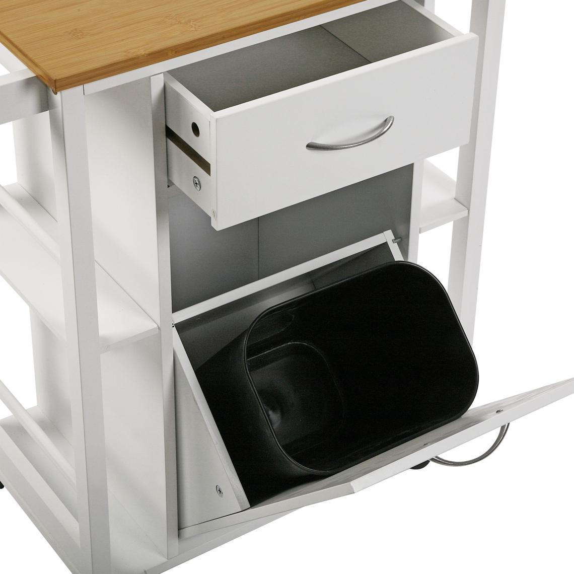 roulettes tiroirs et poubelle tekki