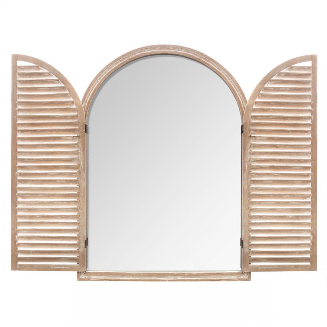 Miroir A Volet 74x104 Blanc Shutery 3 Suisses