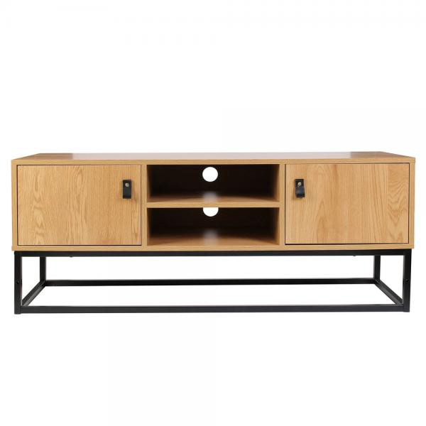 meuble tv industriel bois et metal salma