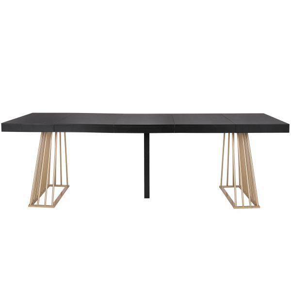 table extensible bois noir extenso